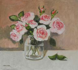 Picturi cu flori trandafiri in borcan 3