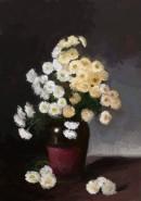 Picturi cu flori Tufanele de toamna