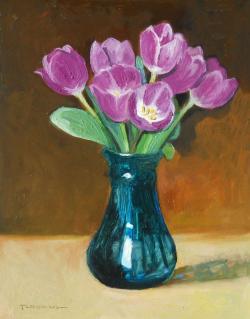 Picturi cu flori tulips in glass