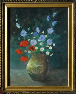 Picturi cu flori ulcica cu flori de camp 1