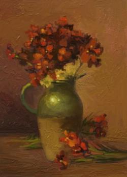 Picturi cu flori vas cu micsunele