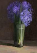 Picturi cu flori Zambile in pahar