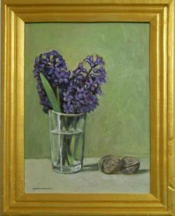 Picturi cu flori zambile si nuci