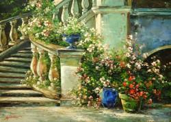 Picturi cu flori Casa veche