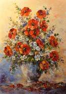 Picturi cu flori Flori de camp si maci