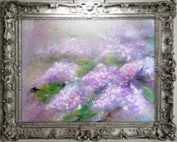 Picturi cu flori liliac mov I