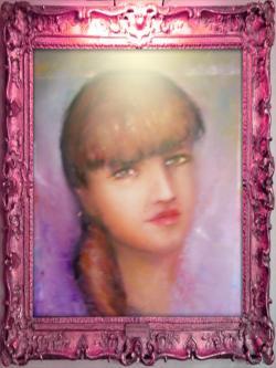 Picturi cu flori Portret de fata_II