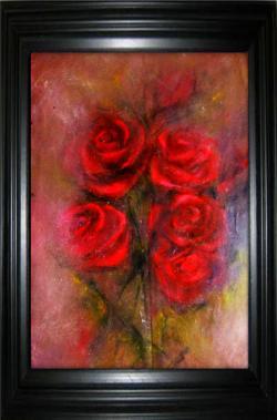 Picturi cu flori Trandafiri rosii_