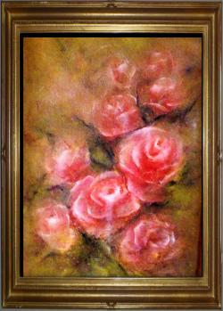 Picturi cu flori Trandafiri roz II