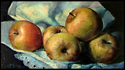 Picturi cu flori Natura moarta cu mere