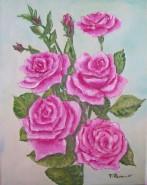 Picturi cu flori Buchet de trandafiri