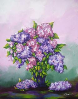 Picturi cu flori liliac2