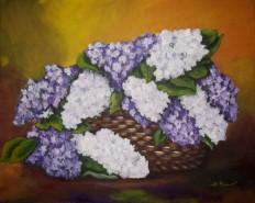 Picturi cu flori Liliac inflorit