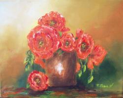 Picturi cu flori maci infloriti in vaza