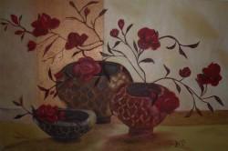 Picturi cu flori Vase cu trandafiri