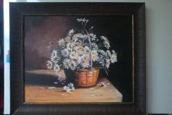 Picturi cu flori Margarete, flori de camp