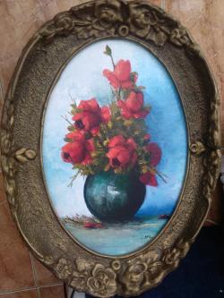 Picturi cu flori Trandafiri în vază