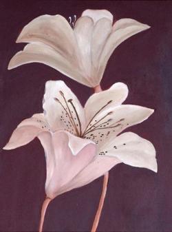 Picturi cu flori Crini 21
