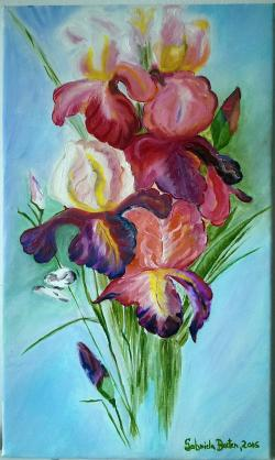Picturi cu flori iris21