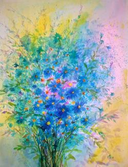 Picturi cu flori Blue 25