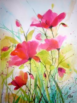 Picturi cu flori Red Poppies 4