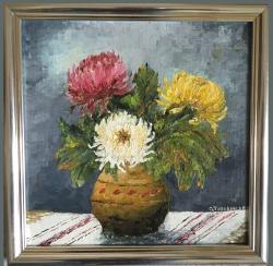 Picturi cu flori Crizanteme_