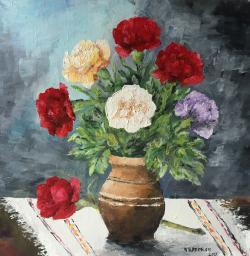 Picturi cu flori Garofite_