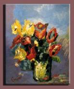 Picturi cu flori Lalele stilizate
