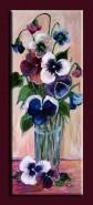 Picturi cu flori Pahar cu panselute