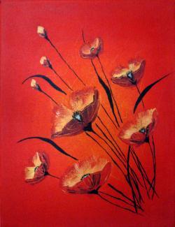 Picturi cu flori Only love