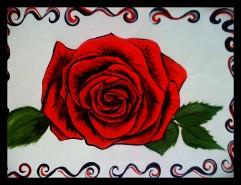 Picturi cu flori Trandafir  rosu