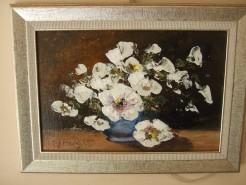 Picturi cu flori Flori albe