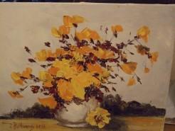 Picturi cu flori Flori portocalii
