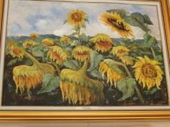 Picturi cu flori Lan de floarea soarelui