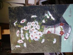 Picturi cu flori flori in vas romanesc