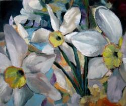 Picturi cu flori Narcise 10