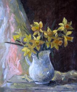 Picturi cu flori Vaza Alba
