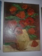 Picturi cu flori Maci rosii in vaza
