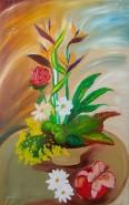 Picturi cu flori Pasarile paradisului