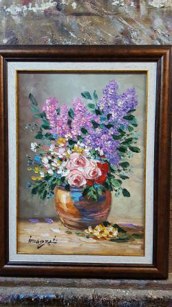 Picturi cu flori liliac f