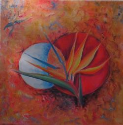 Picturi cu flori Floare papagal