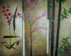 Picturi cu flori Asian