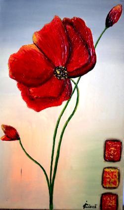 Picturi cu flori Poppy