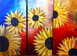 Picturi cu flori Sunflower