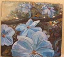 Picturi cu flori Dimineata in delta dunarii