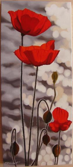 Picturi cu flori Licariri cu Maci