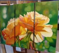 Picturi cu flori Lumini trandafirii