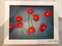 Picturi cu flori Margarete vesele