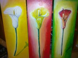 Picturi cu flori  Trei cale
