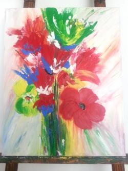 Picturi cu flori Tablou14